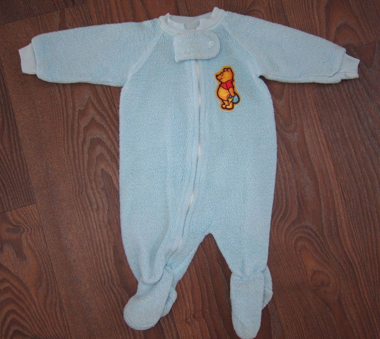 78197489a Vintage 80s Infant Baby Winnie The Pooh 1 PC Sleeper Pajamas Heavy 6 ...