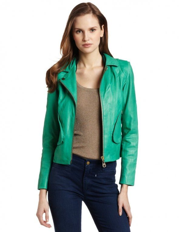 Green Leather Jackets For Women 3M6brl