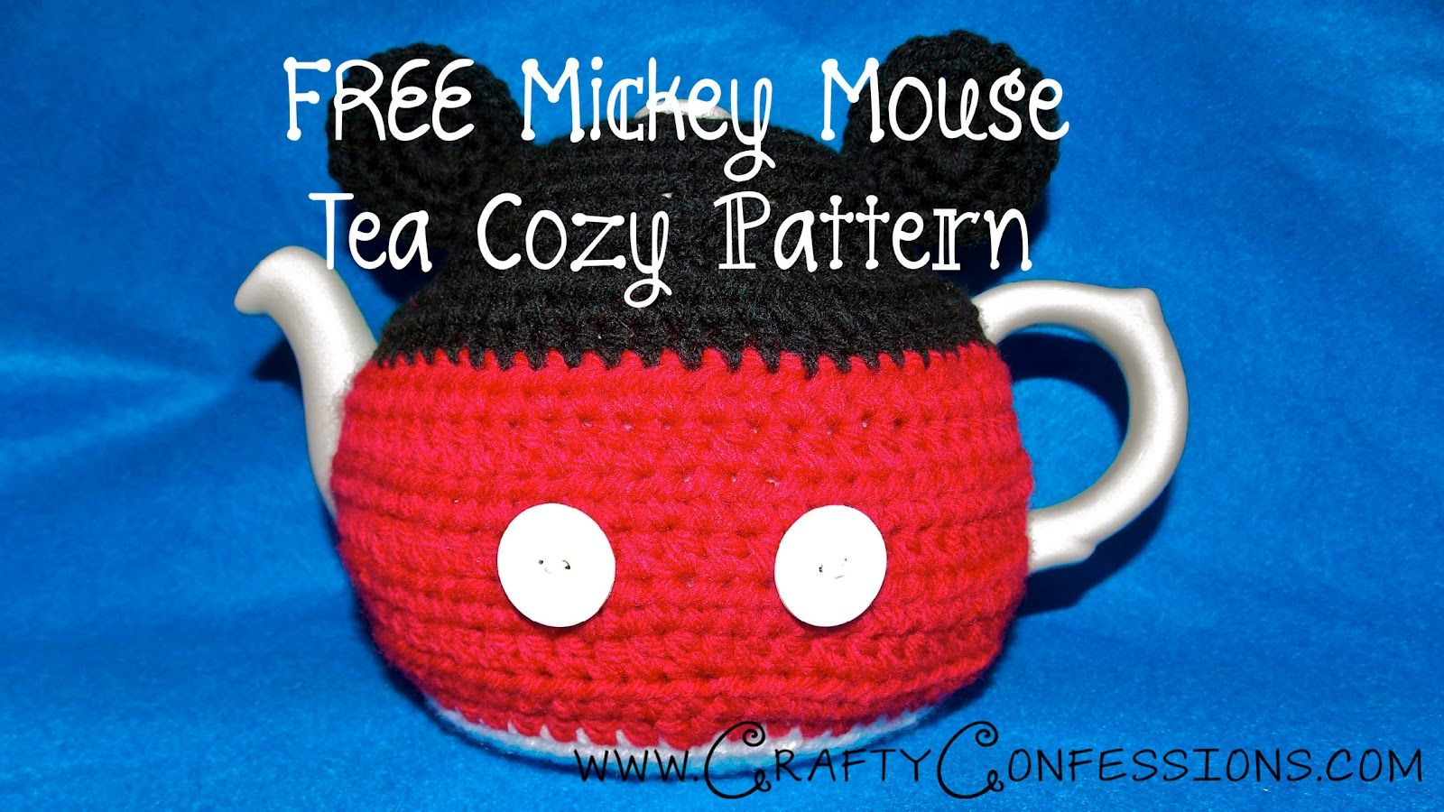 Crafty Confessions: FREE Mickey Mouse Teapot Cozy Crochet Pattern ...
