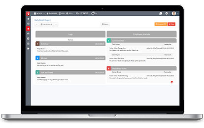 Easy and intuitive shiftbook logbook Schedule, Mobile