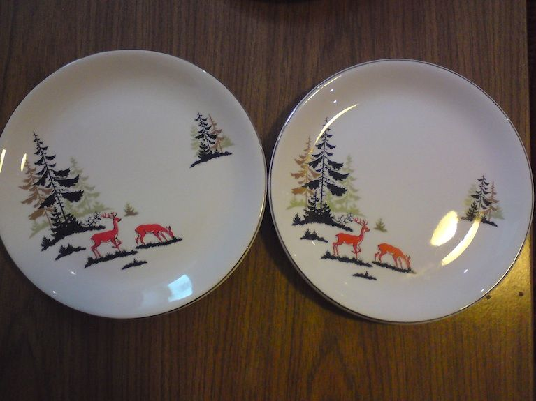 Retro deer plates & Retro deer plates | Plates | Pinterest | Dinnerware