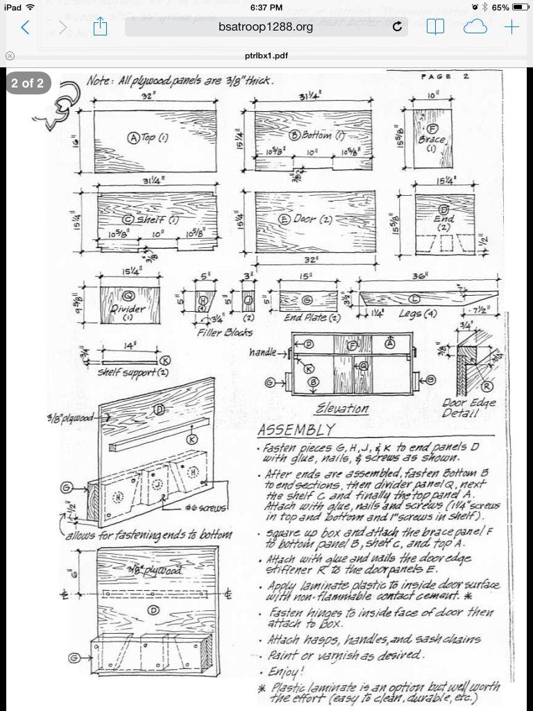 Patrol Box Assembly Instructions Camping Chuck Box