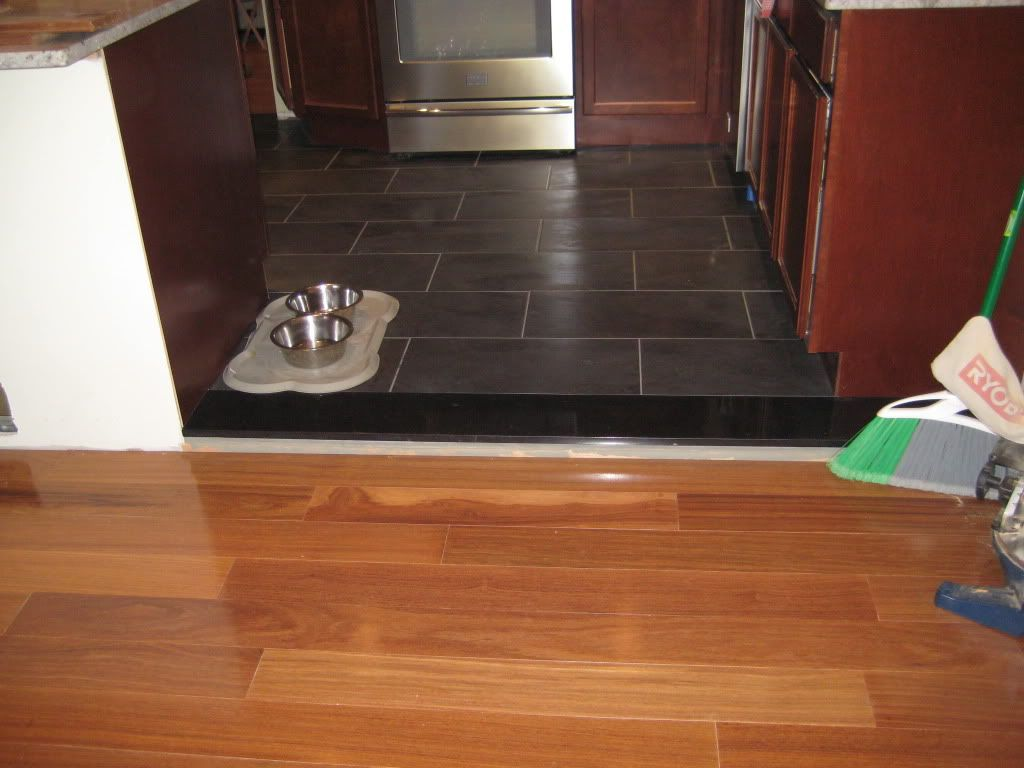 Wood Floor To Tile Transition - Suggestions For Flooring Transition Between Open Rooms Flooring