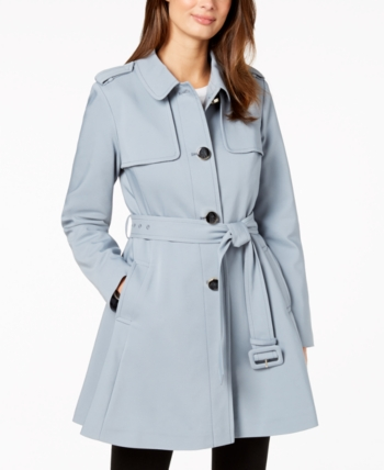 1792c8b9f448 kate spade new york Belted Trench Coat - Blue L