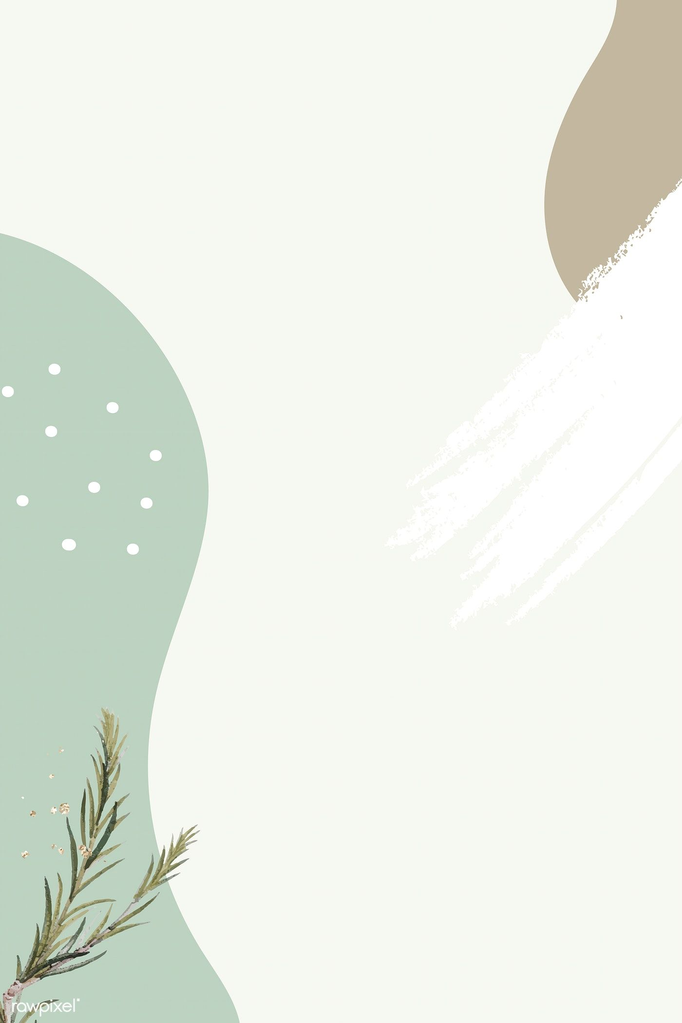 Download Premium Vector Of Swamp Paperbark Branch On Green Minimal Latar Belakang Seni Abstrak Fotografi Abstrak