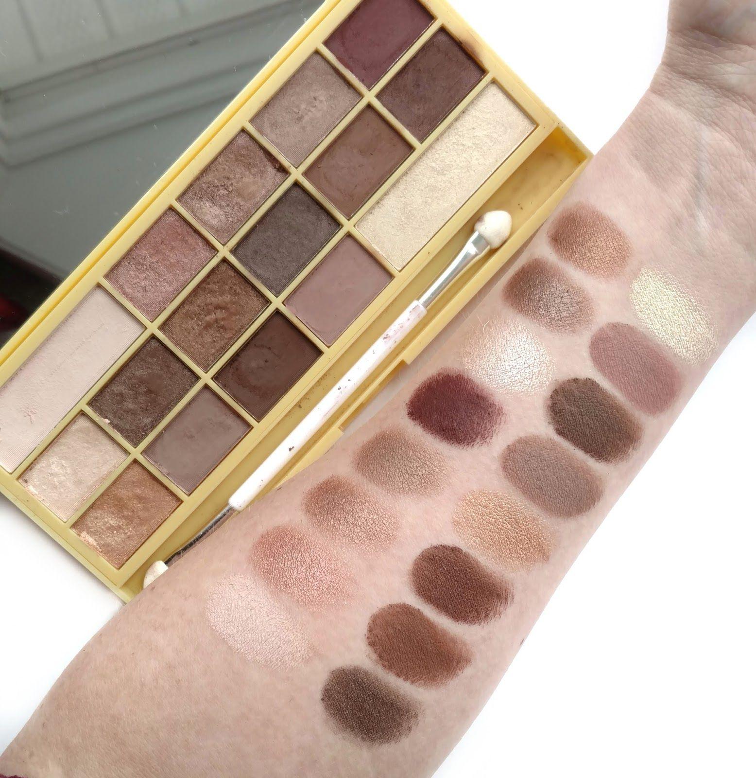 Oryginał Makeup Revolution Naked Chocolate swatches | Eyeshadow swatches in EK08