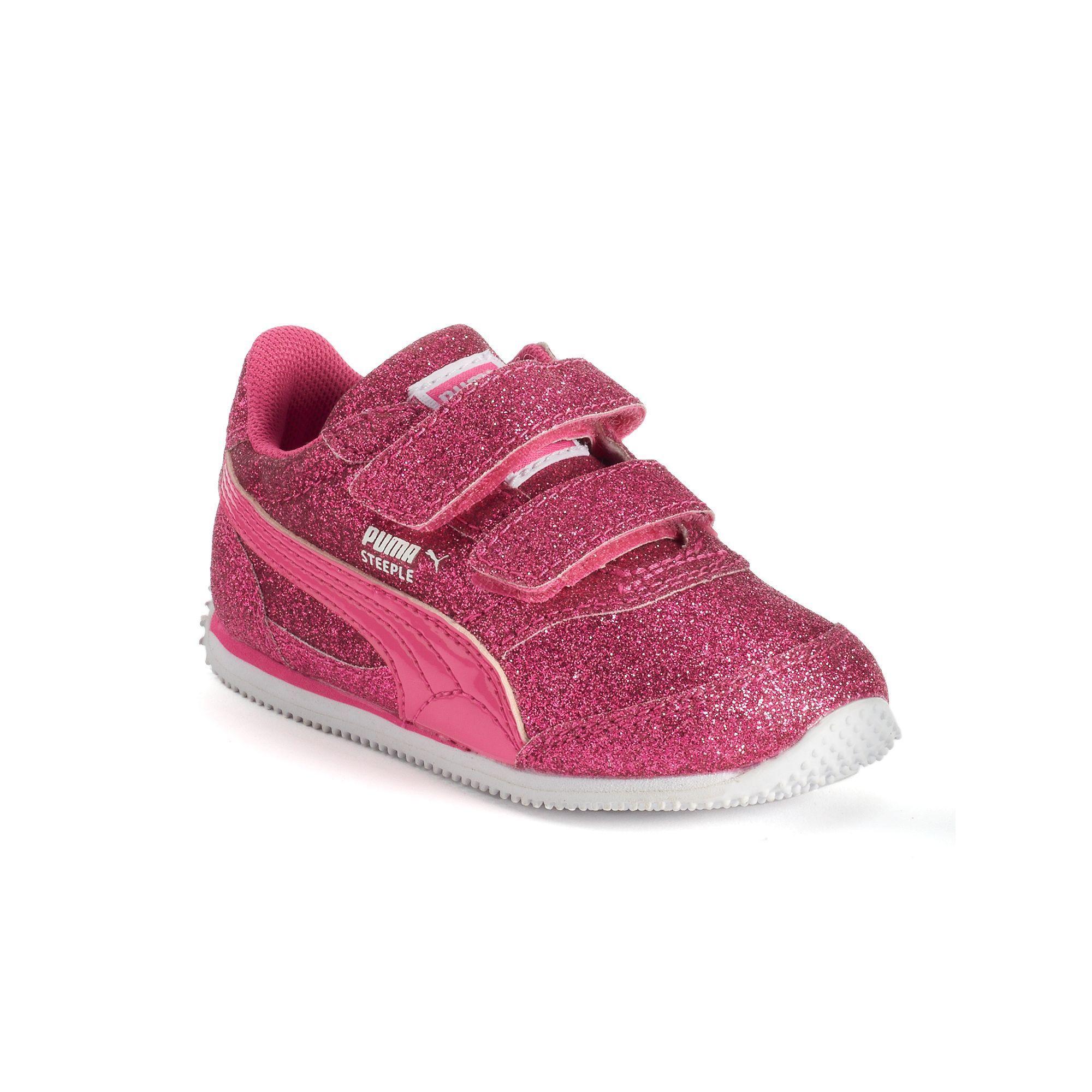 87846fb8cfc PUMA Steeple Glitz Glam V Toddler Girls' Shoes, Girl's, Size: 8 T, Pink