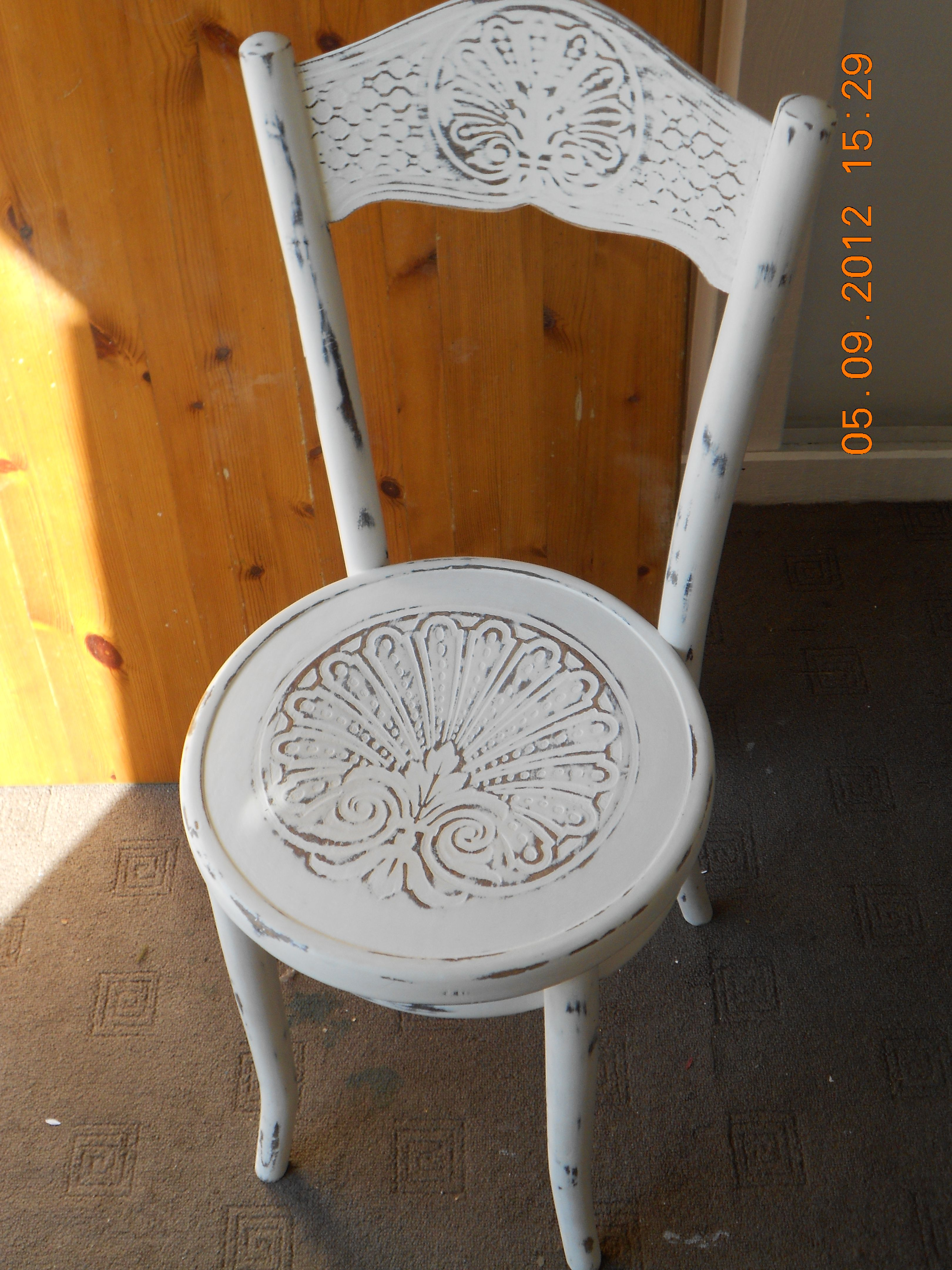 shabby chic distressed painted bent wood chair sold cute stuff