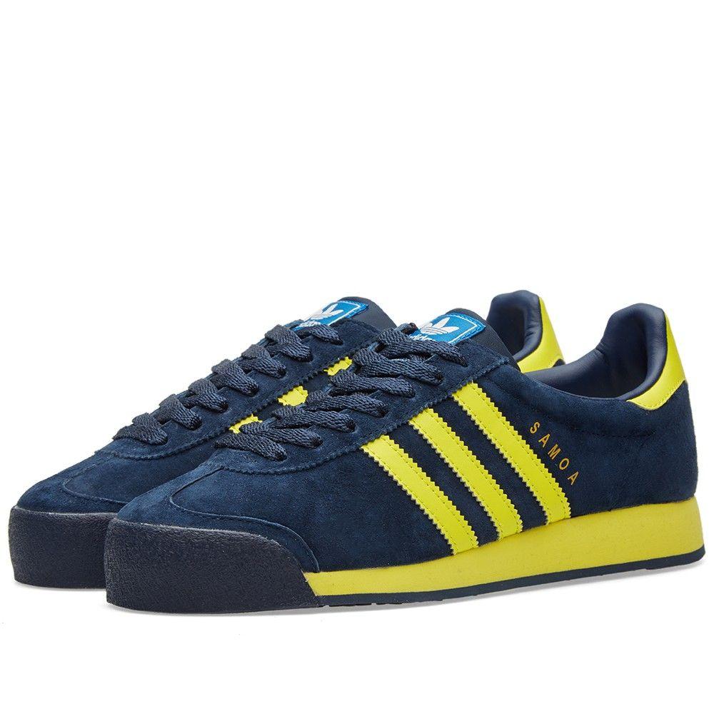 huge discount 22219 ef3dd Adidas Samoa Vintage (Collegiate Navy  Yellow)