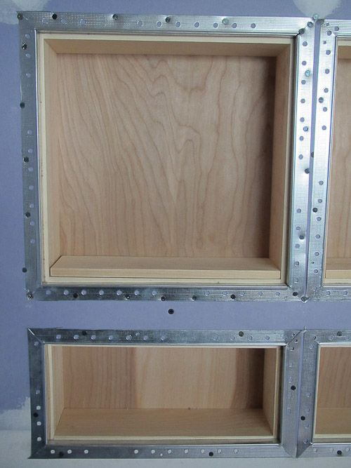 how to recess shelves without trim - flush surface recessed shelf