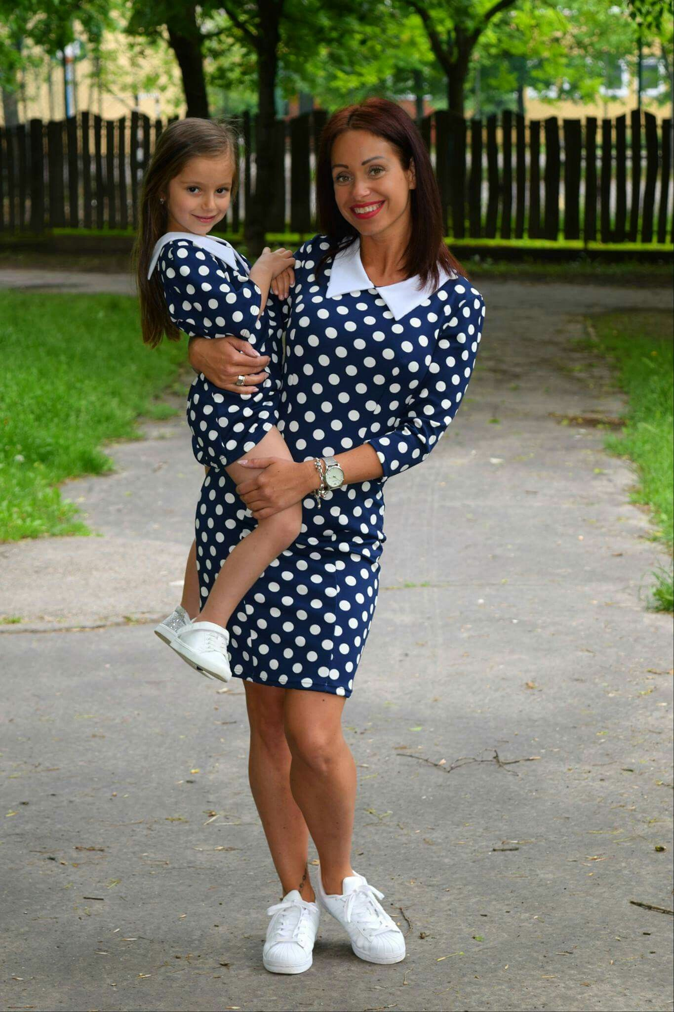 Mother and daughter matching outfit Pöttyös anya-lánya szett  www.minniemes.com c91e4eca23