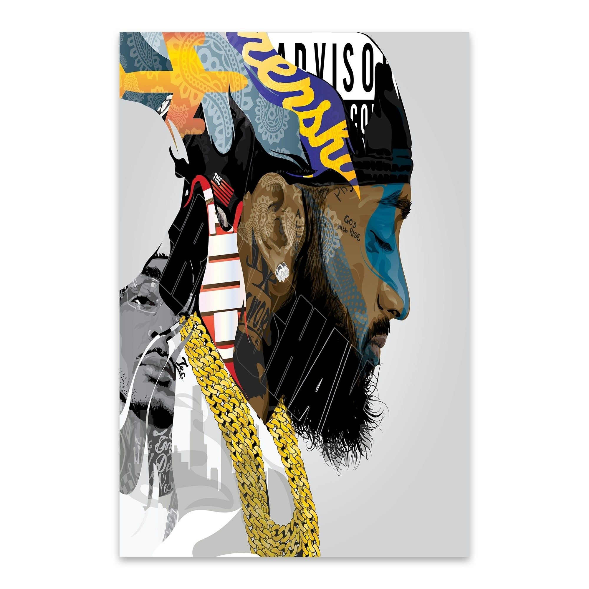"""Nipsey Hussle poster wall art home decoration photo print 24/"""" x 24/"""" inches"""