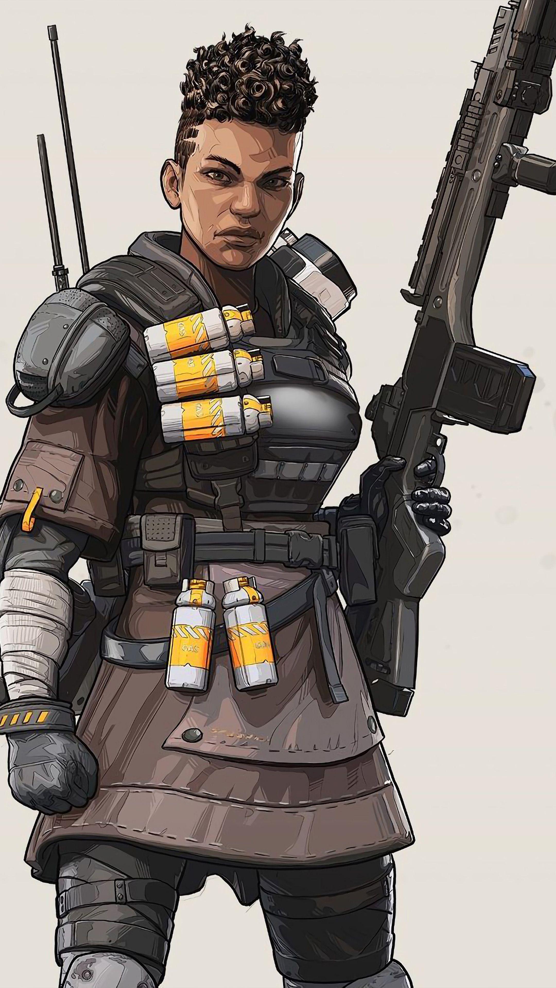 Bangalore Apex Legends Character wallpaper, Female armor