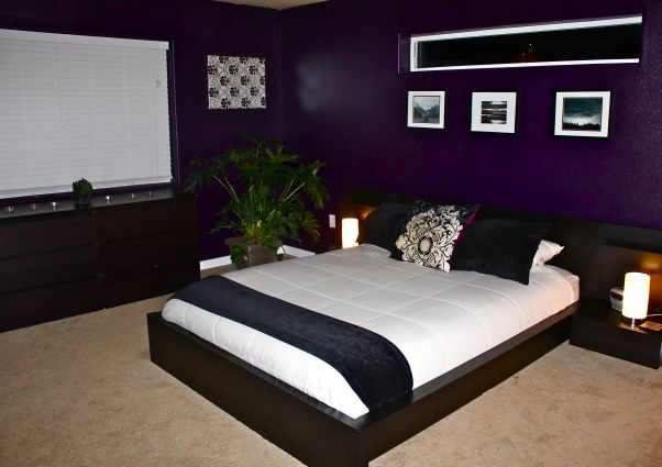 Amazing What Some Ralph Lauren Hotel Room Paint Can Do Dark Purple Bedrooms Gray Master Bedroom Purple Bedrooms