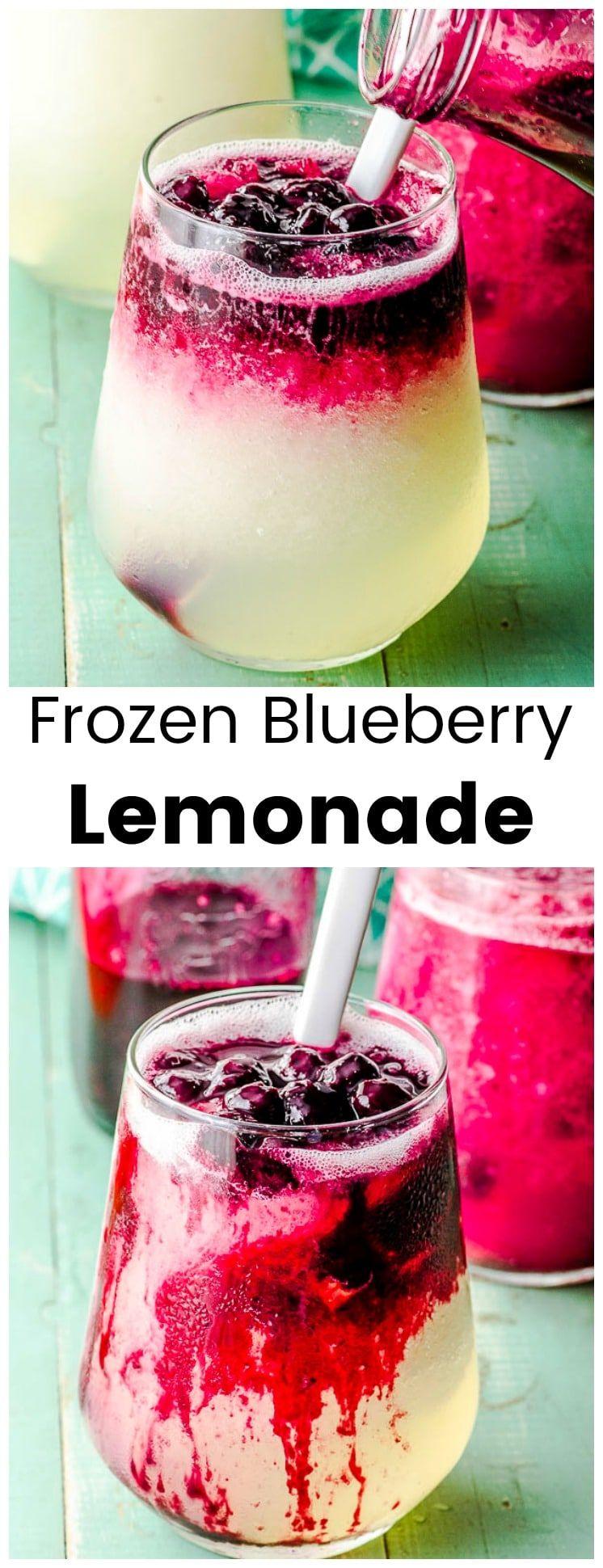 Frozen Blueberry lemonade Recipe Blueberry lemonade