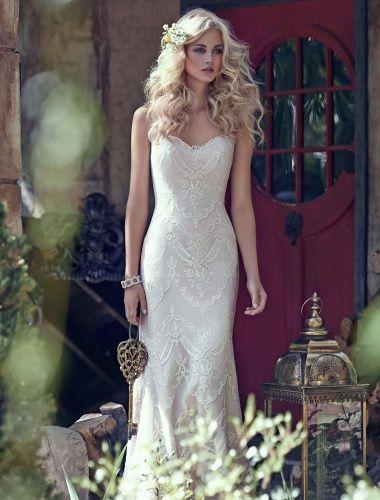 Etui-Linie Herz-Ausschnitt ärmellos Brautkleid - $182.99 | Wedding ...