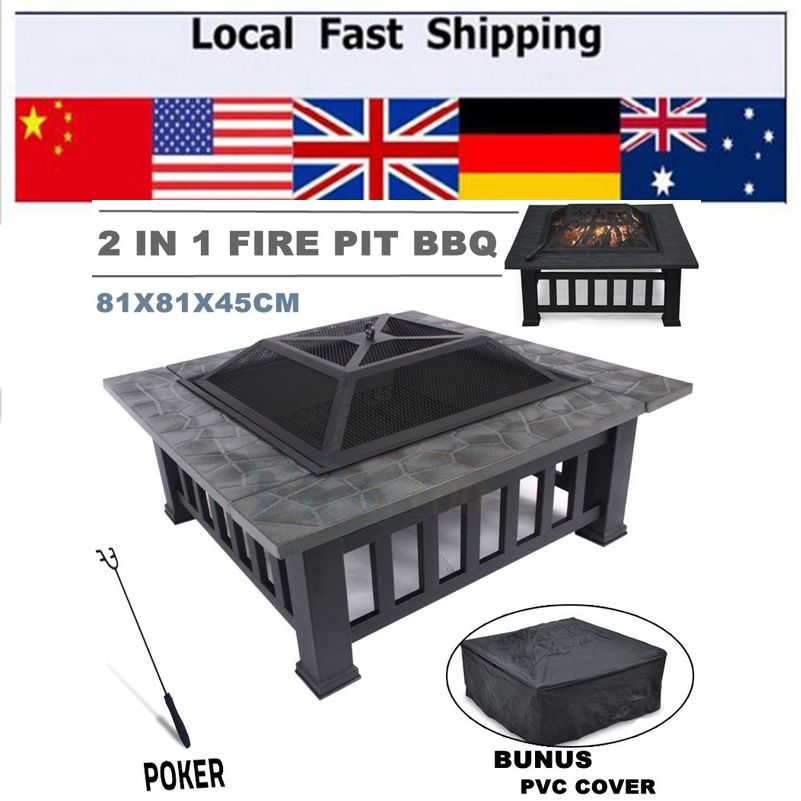 Hot Outdoor Fire Pit Bbq Grill Table Garden Patio Home Grill Brazier Heater Fireplace Brazier Family Bbq Grill 그릴 테이블 바베큐 안뜰