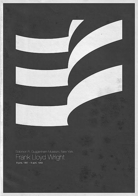 Flyer Goodness: Six Architects by Andrea Gallo Frank Lloyd Wright