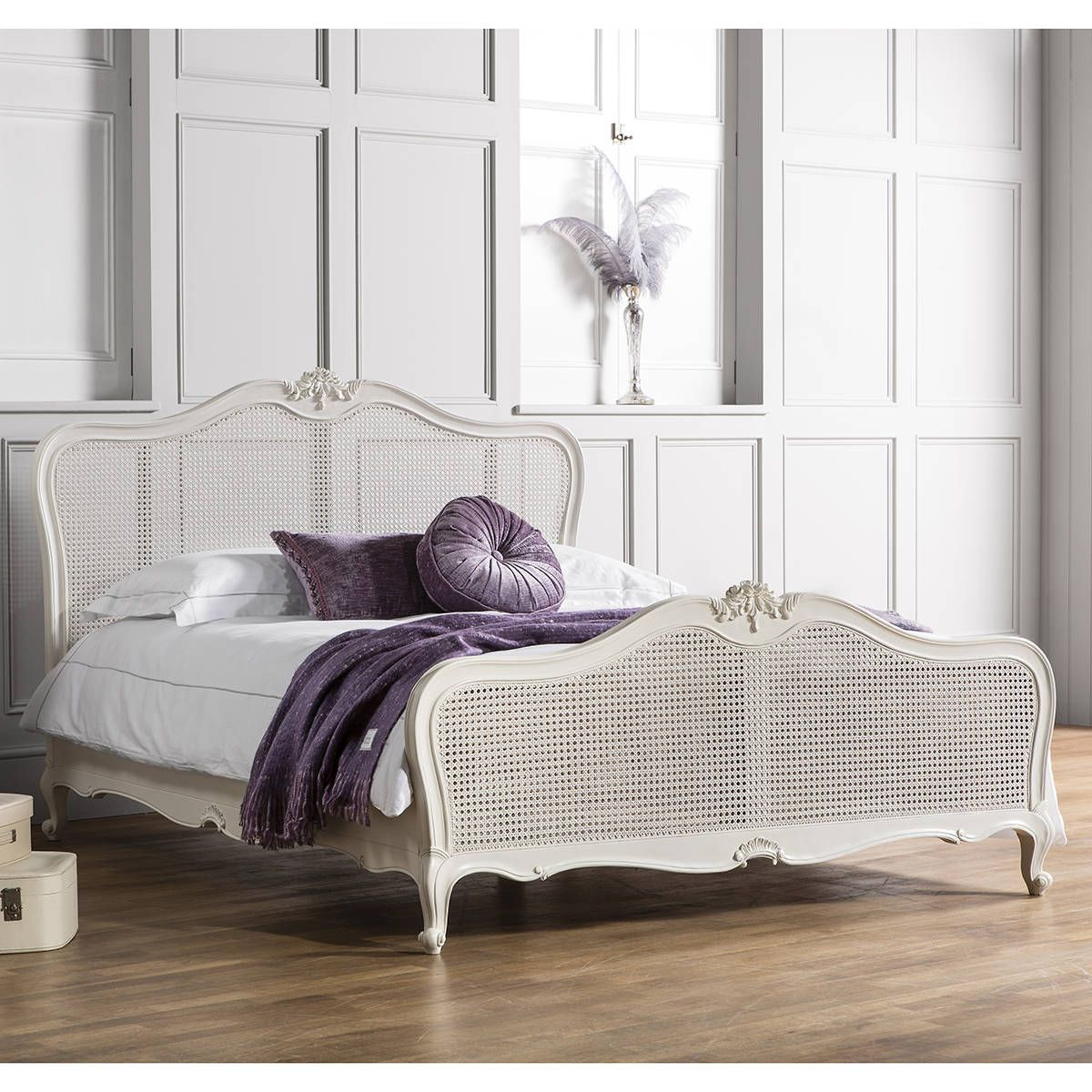 Frank Hudson Chic Vanilla Cane French Bedstead French