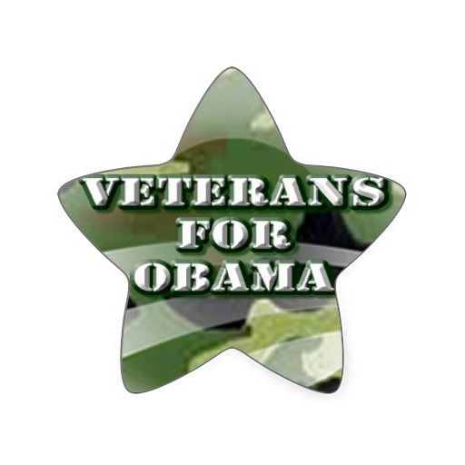 Veterans for Obama Star Sticker