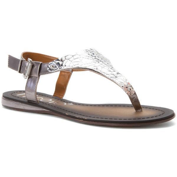 Nicole Women's Axel Sandals (80 CAD) ❤ liked on Polyvore featuring shoes, sandals, anthracite, adjustable gladiator sandals, nicole shoes, flat pumps, gladiator flats sandals and gladiator sandals