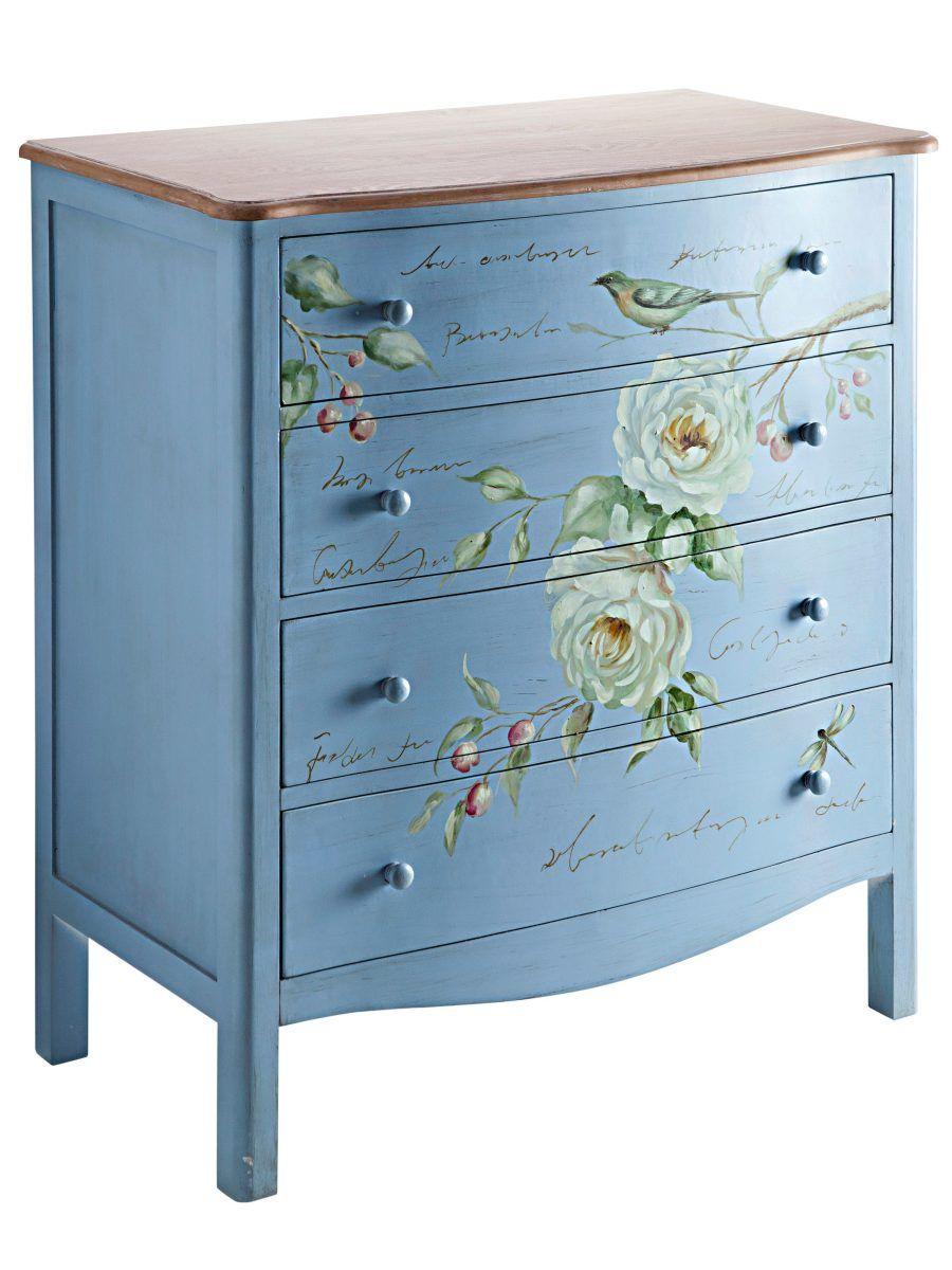 Waschbecken-Unterschrank blau, Schubladenschrank, breit, heine home ...