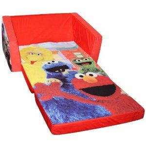 Elmo Couch   Has A Sleeping Bag That Your Child Can Curl Up In.