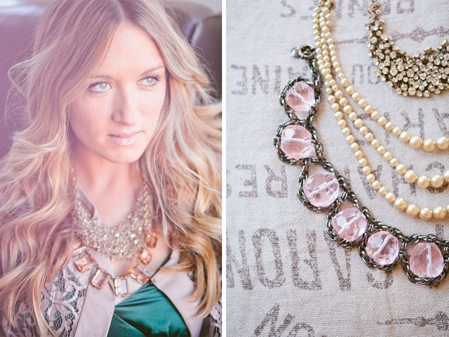 Jewelery in layers with mismatched chunky baubles are a great way to re_vamp an outfit