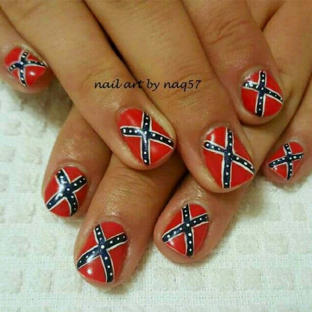 Freehand rebel flag nail art design nail art pinterest arte freehand rebel flag nail art design prinsesfo Gallery