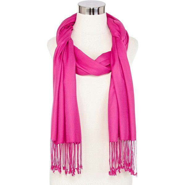 Pashmina-Style Scarf ($12) ❤ liked on Polyvore featuring accessories, scarves, fringe scarves, viscose scarves and fringed shawls