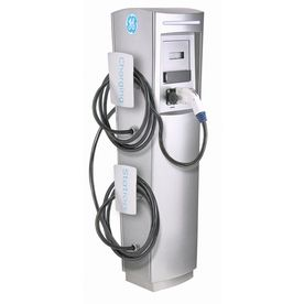 Ge Durastation Level 2 30 Amp Freestanding Dual Electric Car Charger With Rfid