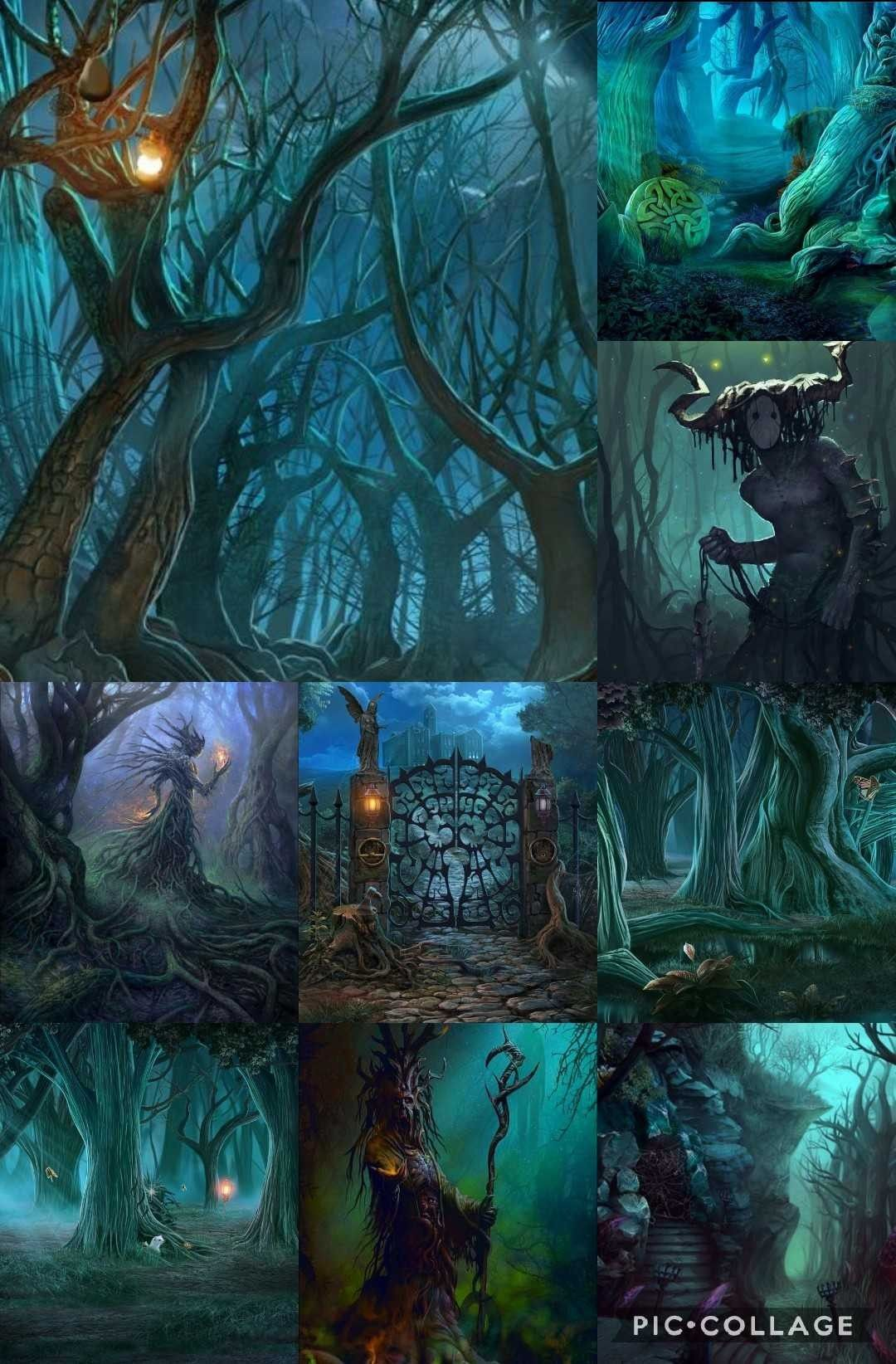 dangerous and remote forests of woßang dark fantasy forest