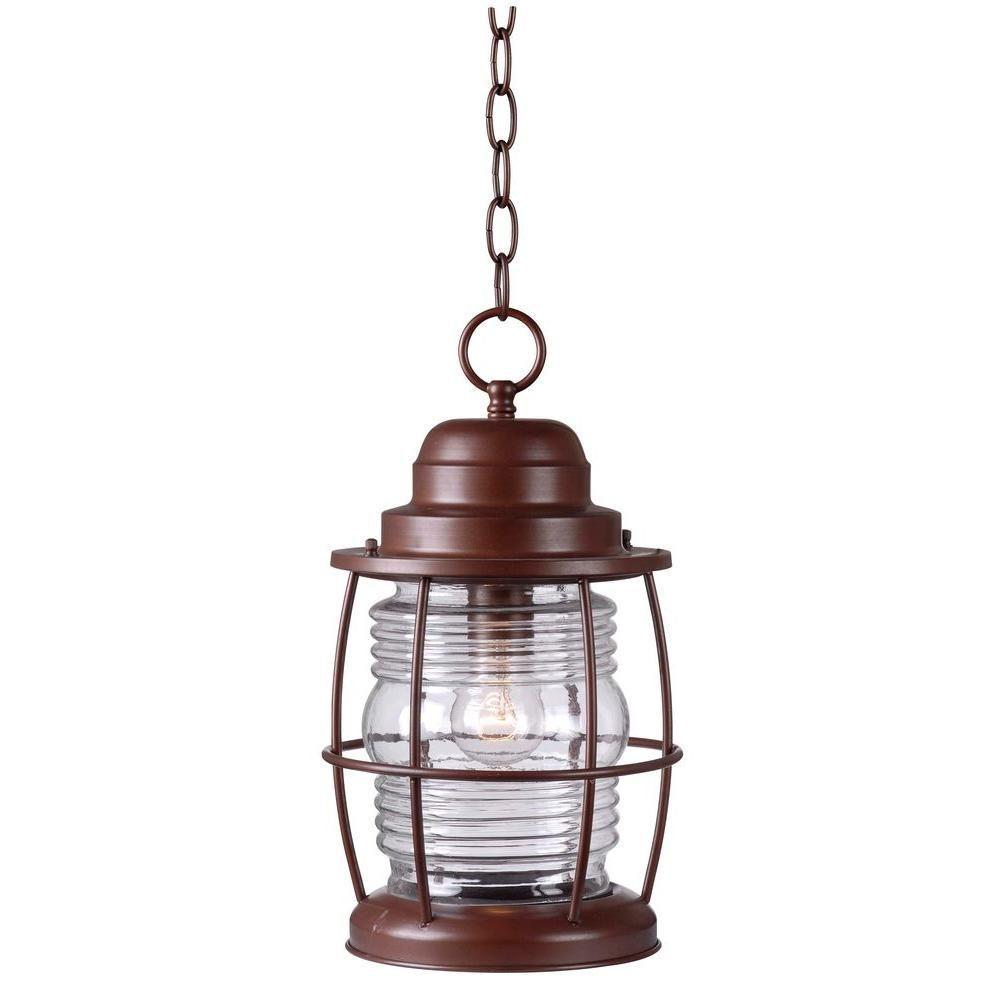 Harbor 1-Light Copper Outdoor Hanging Lantern