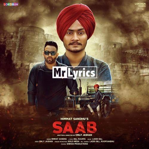 Saab Lyrics Himmat Sandhu Punjabi Song - Mr-Lyrics com