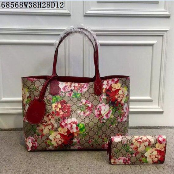 81a5af302b6 Reversible GG Leather Tote Bags 368568 Geranium Red Gucci Tote Bag