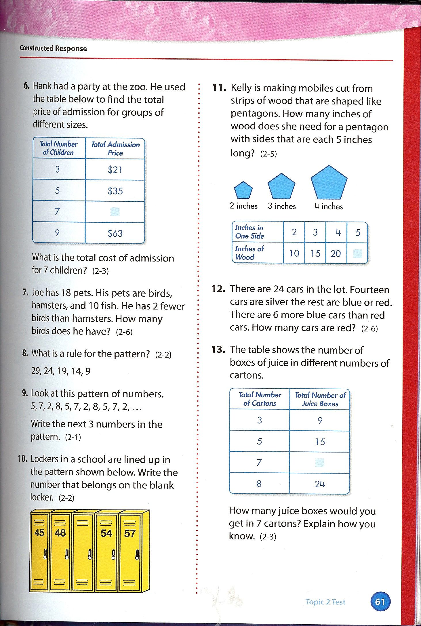 Envision Math Grade 4 Topic 24 Quick Check – Envision Math 5th Grade Worksheets