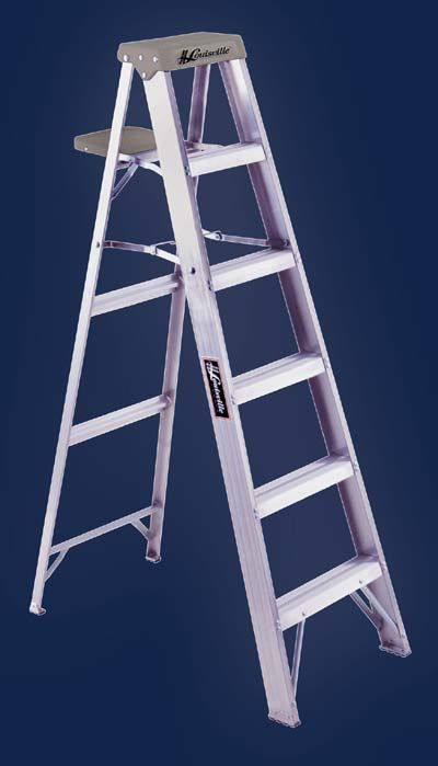 Aluminum Stepladder With Pail Shelf Type Ia Slip Resistant Rubber Feet Aluminum Angle Feet With Thick Rubber Tread On All Step Ladders Ladder Aluminium Ladder
