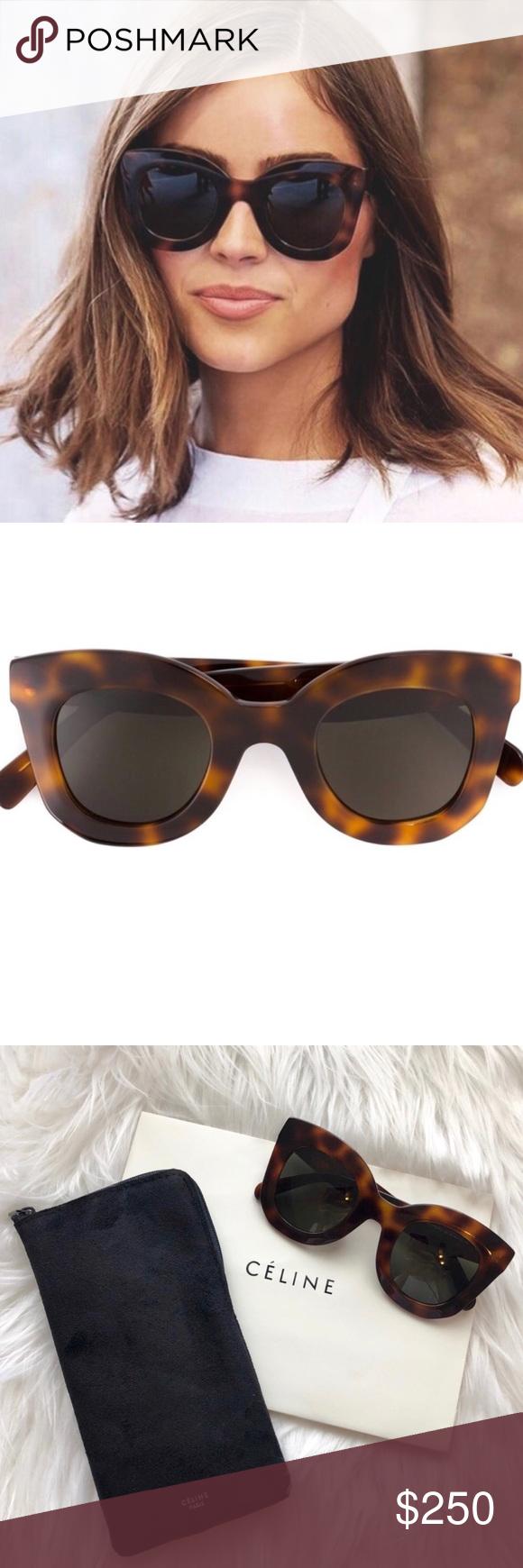 4d7ef46f59 Havana frame with Dark Grey lenses. Brand new. Includes original Céline  gift box