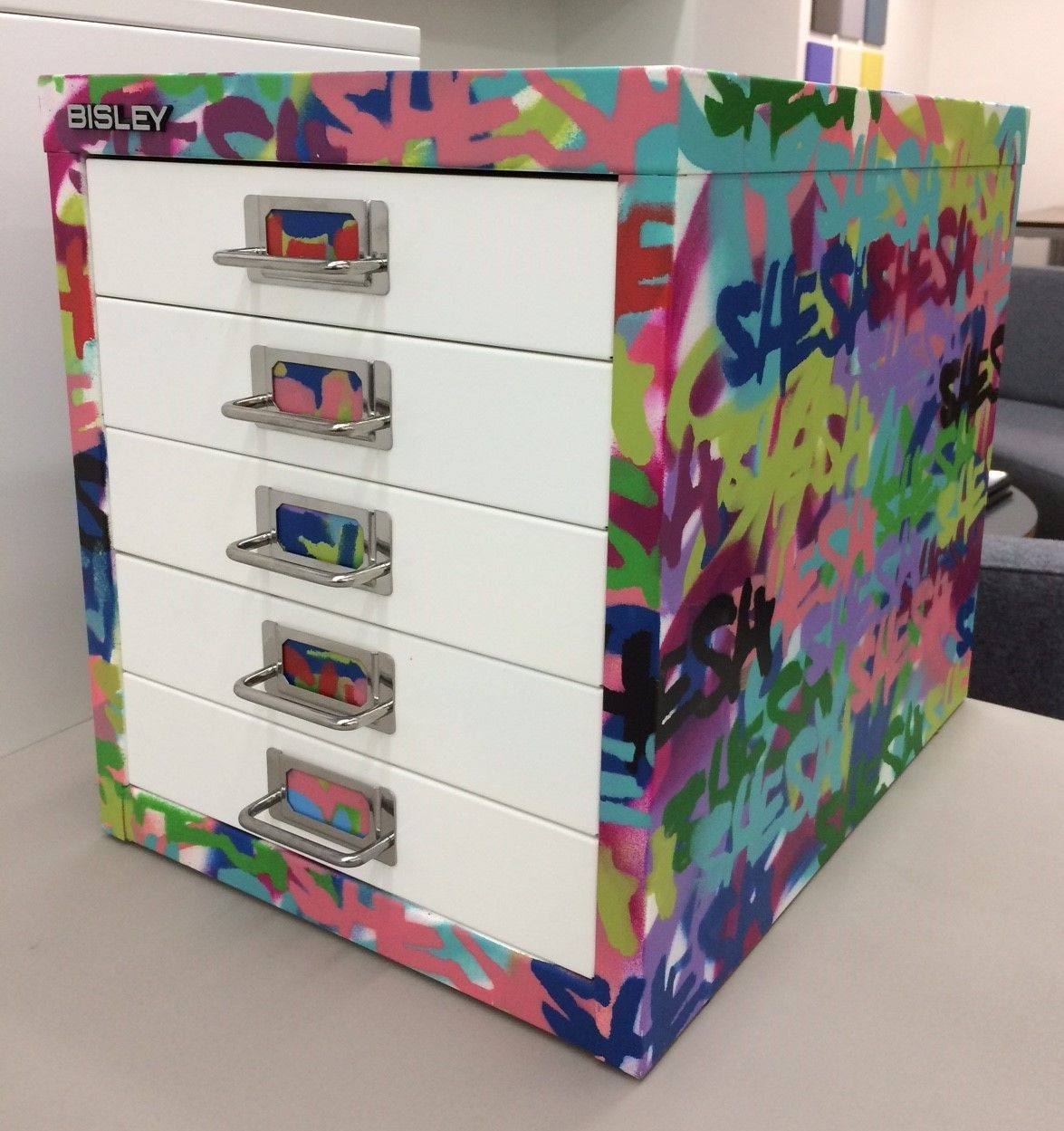 Shesh customised Multidrawer. Using spray paint to create a ...