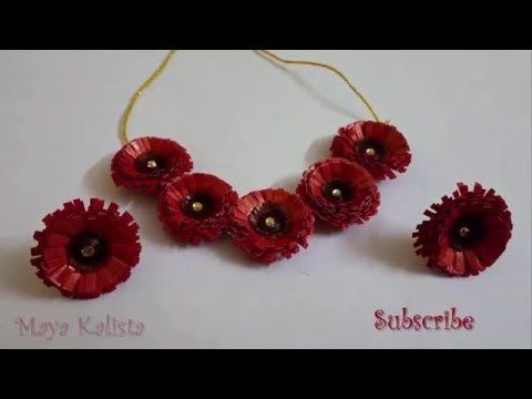 DIY Paper Quilling Bridal Necklace How to make JK Wedding