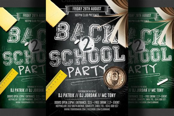 Back To School Flyer Template 2 Flyer Template Template And Print