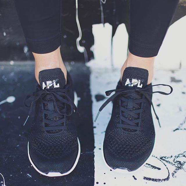 all black apl sneakers
