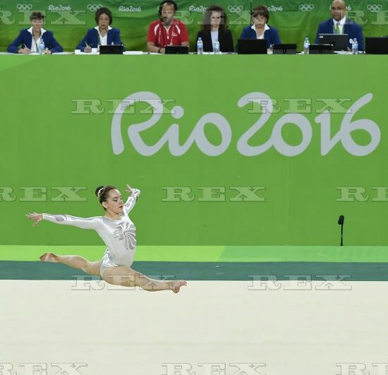 Rio 2016 Olympic Games, Gymnastics, Rio Olympic Arena, Brazil - 16 Aug 2016  Britain's Amy Tinkler competes during the women's floor exercise final of Artistic Gymnastics 16 Aug 2016