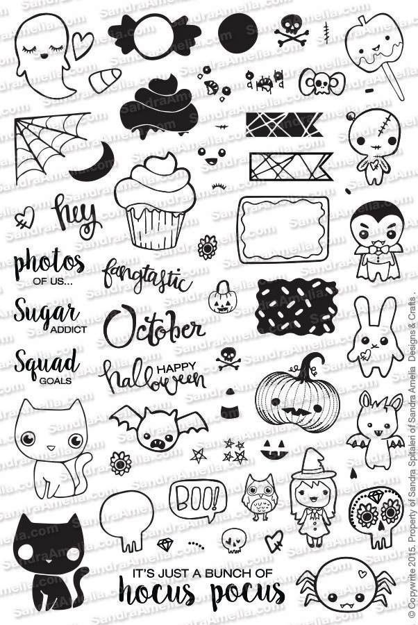 Halloween Icons Kreativ Gekritzel Ideen Fürs Zeichnen Und