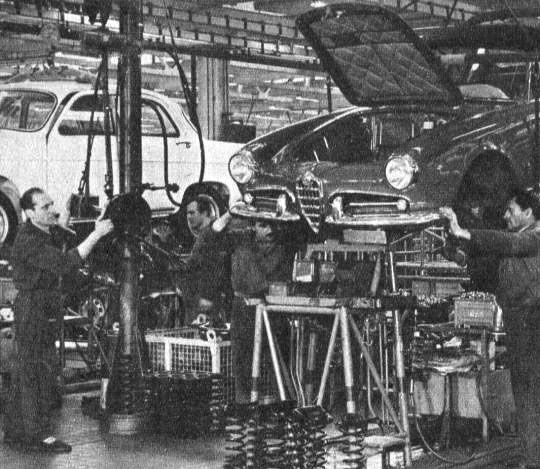 Alfa Portello Milano, Catena Di Montaggio Della Giulia