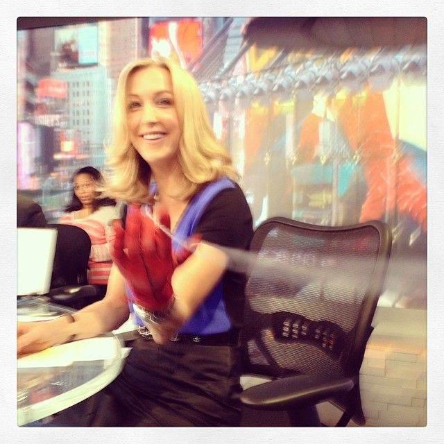 Testing my spidey senses. The cast of The Amazing Spider-Man 2 is on Good Morning America now #GMAzing
