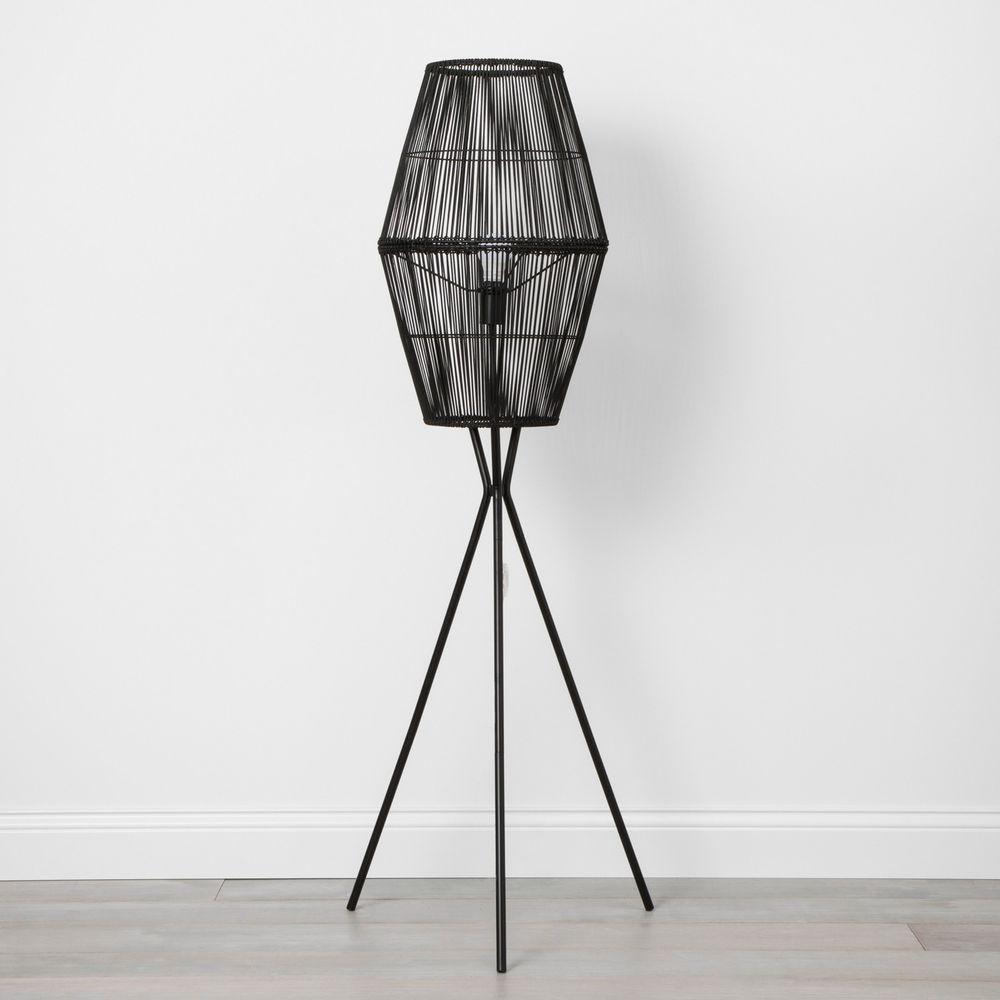 Details about OpalHouse Rattan Diamond Tripod Floor Lamp