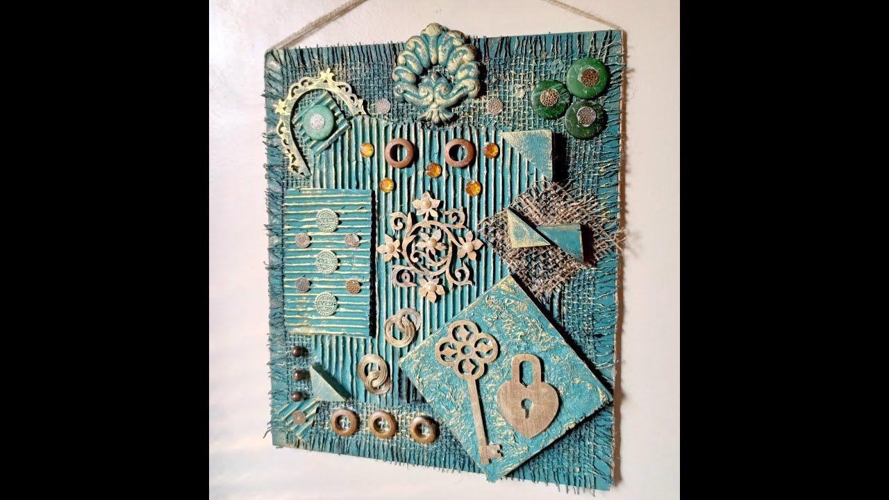 اعادة تدوير كرتون و خيش مع اكسسوارات خشبية Mixed Media Handicraft Supplies Notebook