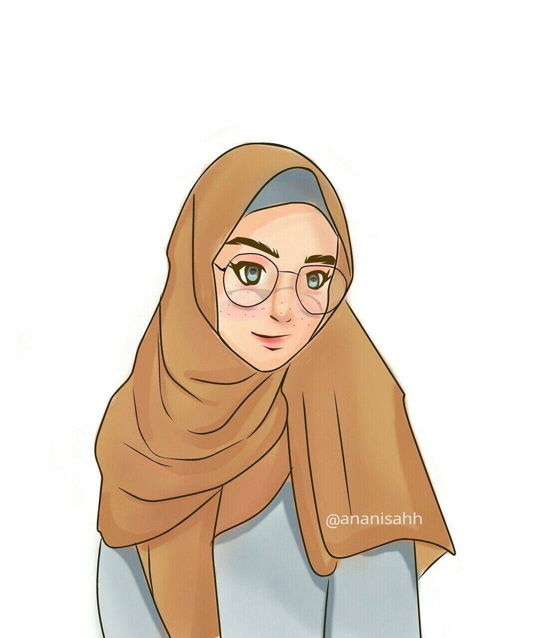 Pin Oleh Alfi Di Kartun Hijab Sketsa Seni Islamis Kartun