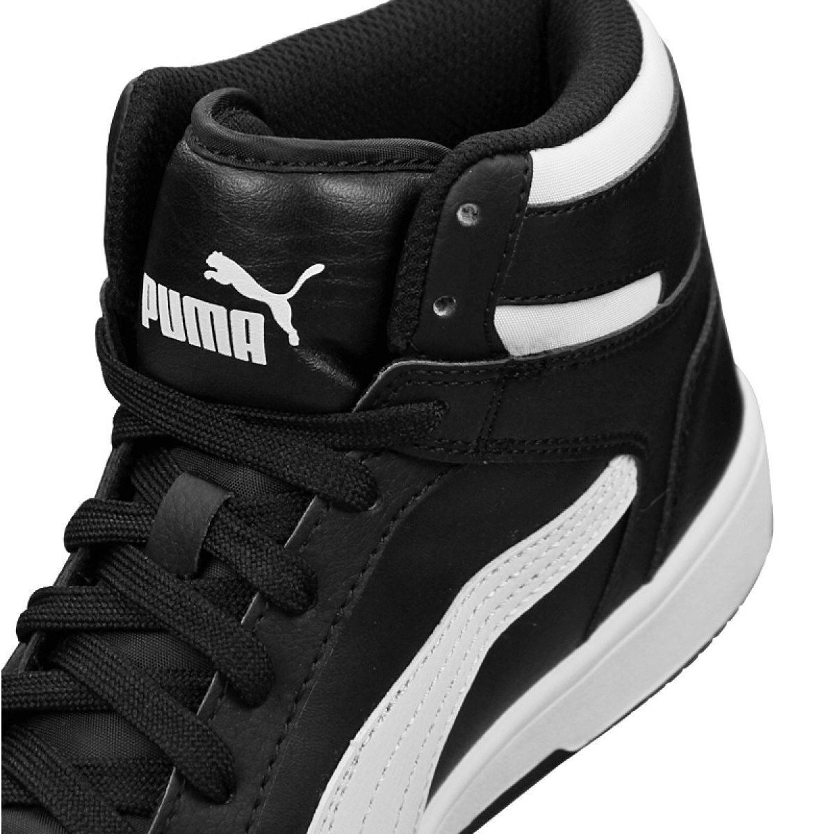 Buty Puma Rebound Layup Sneakers Jr 370486 01 Czarne Junior Shoes Black Shoes Sneakers